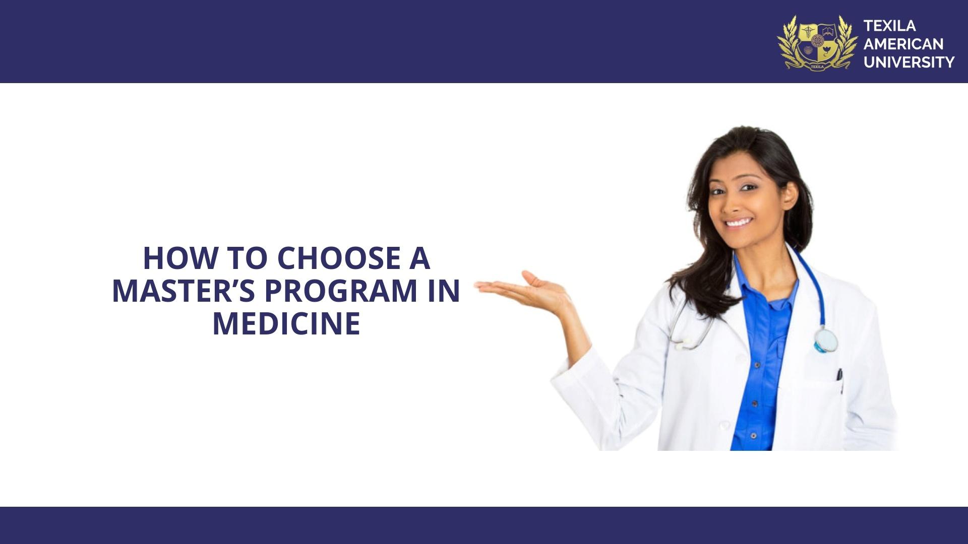 Masters program in Medicine