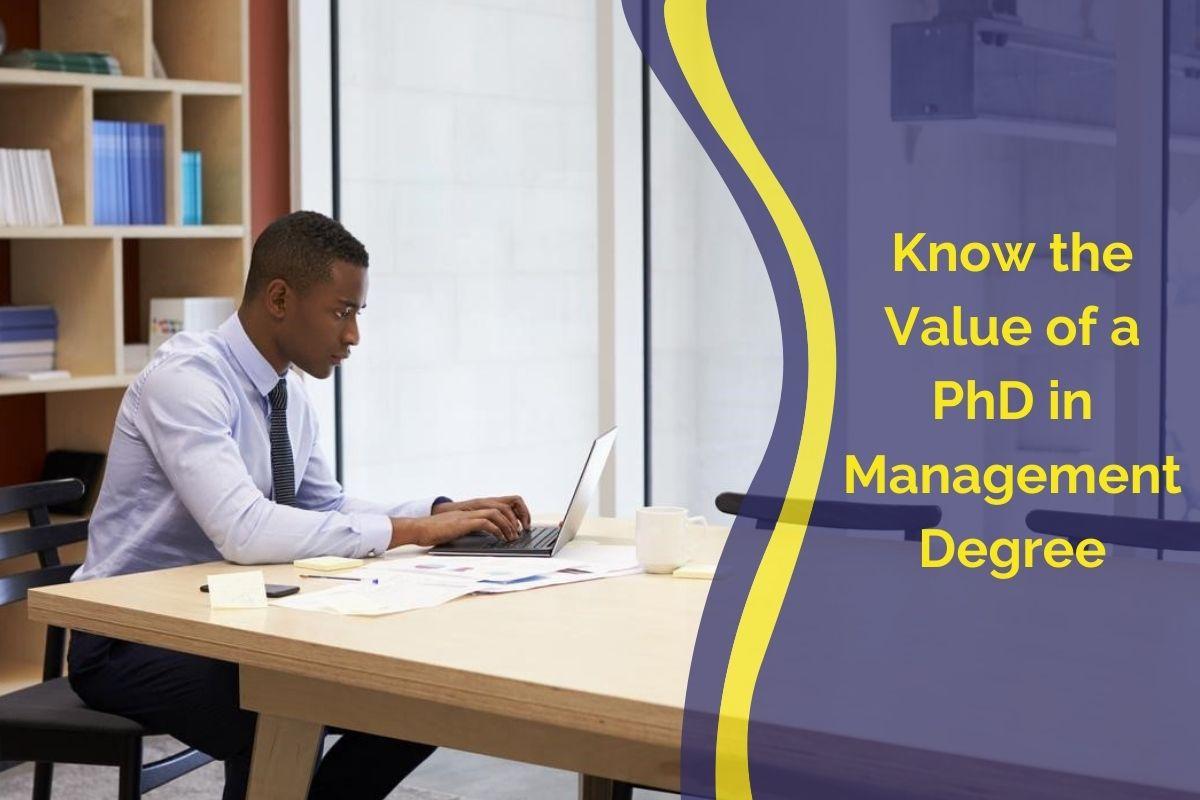 phd management degree