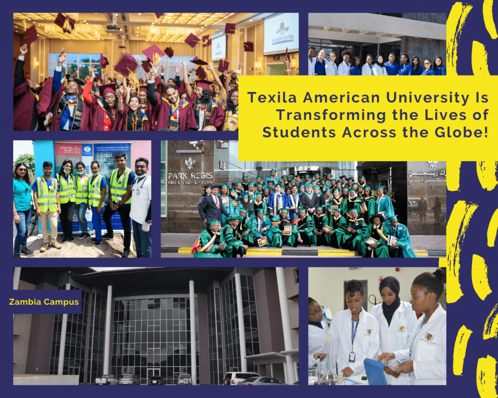 Graduated students from Texila American University