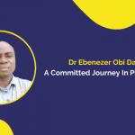 Ebenezer's success in public health journey